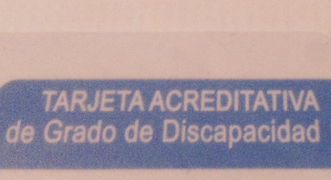 Tarjeta acreditativa de Grado de Discapacidad