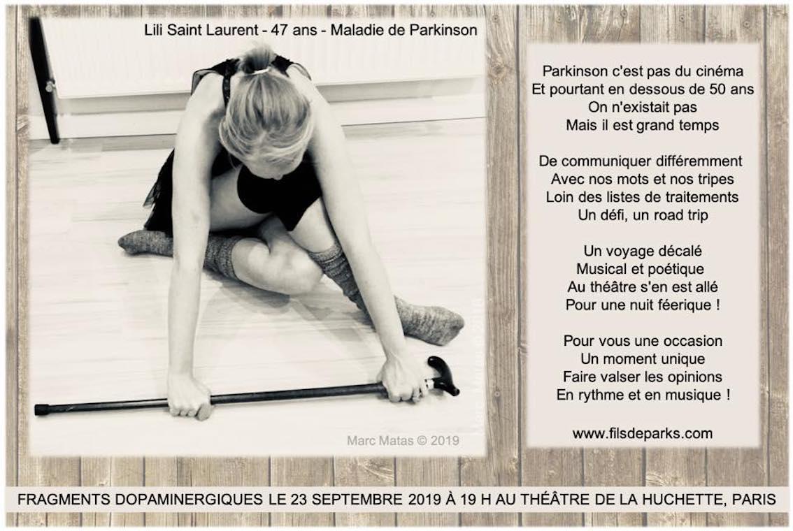 Parkinson c'est pas du cinéma ! Lili SL 47 ans -filsdeparks.com